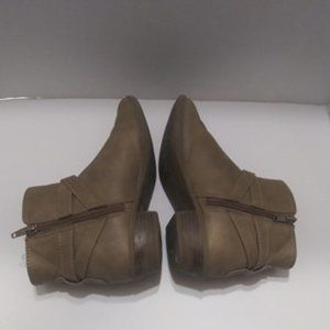 So Brown Booties Size 3 Med